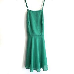 Lulu's Letter of Love Green Backless Skater Dress